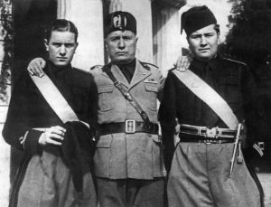 Benito Mussolini And Two Sons